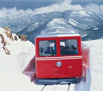 Pike's Peak Cog Railway - The world's highest cog railroad, the highest Colorado railroad AND highest train in the United States.
