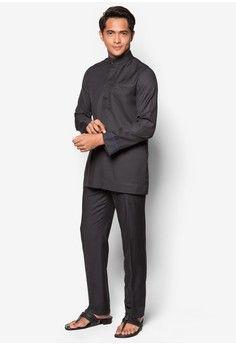 Jovian Men Qaiser Baju Melayu from Jovian in black_1