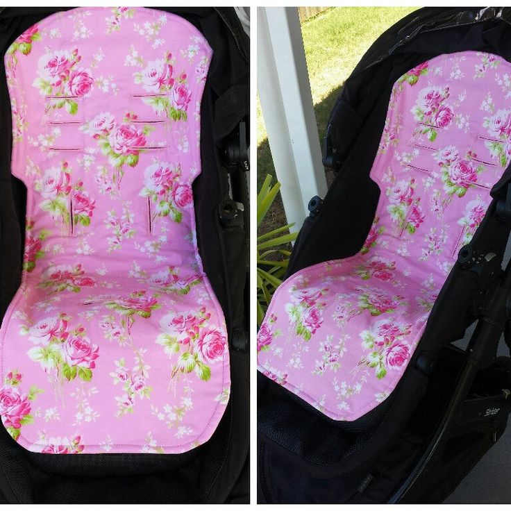 Lola Roses on Pink Pram Liner. Fits so many styles of prams and strollers.