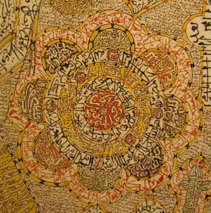 Talismanic shirt detail from the Topkapi Palace Museum Collection