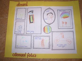 Teken verschillende lijstjes en laat kinderen daar foto's in maken