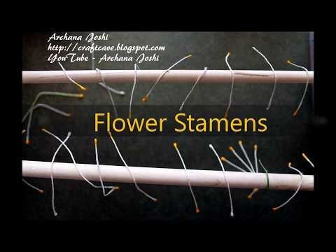 How to Make Flower Stamen By Archana Joshi - YouTube