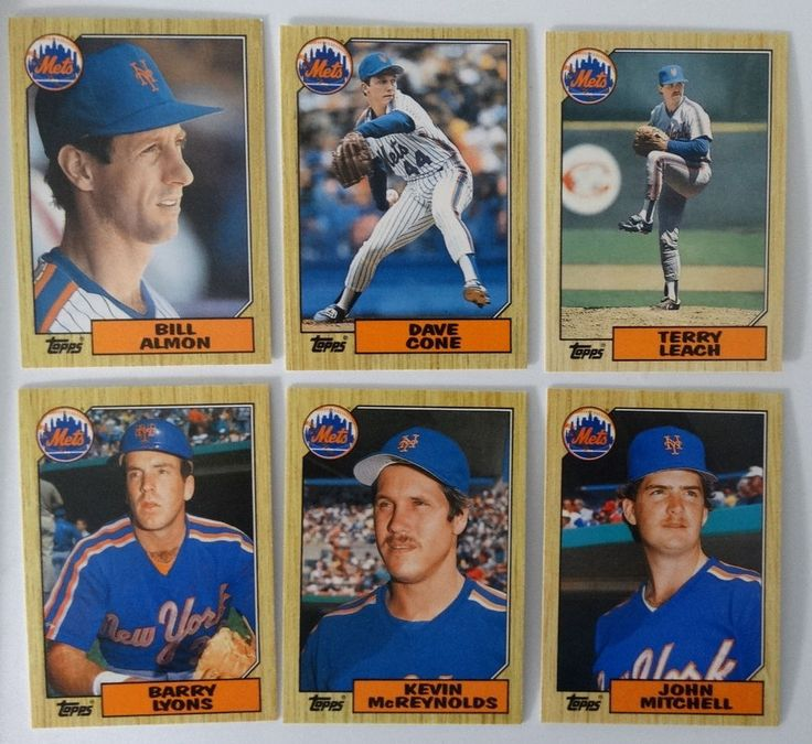 1987 Topps Traded New York Mets Team Set of 6 Baseball Cards #NewYorkMets