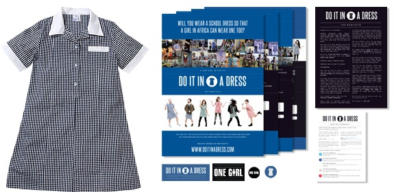 Check out our awesome Do it in a Dress Action Kits! #doitinadress #onegirl #charity