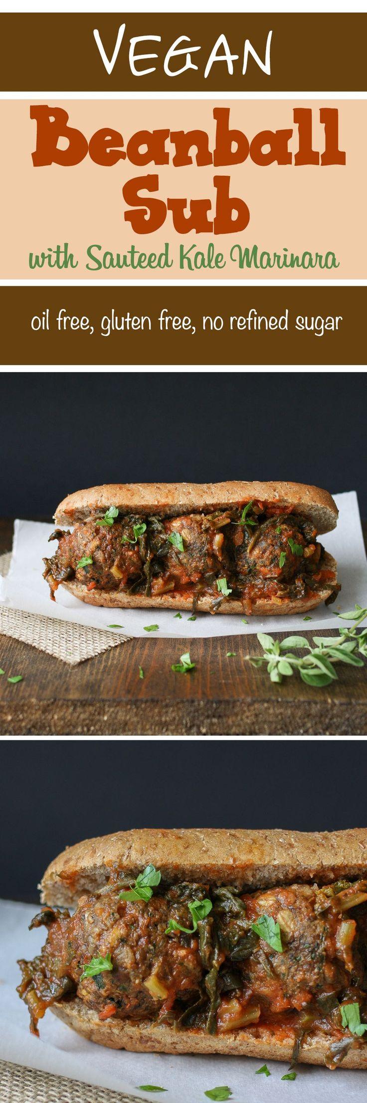 Vegan beanball sub | www.veggiesdontbite.com | #vegan #plantbased #glutenfree #beans #kale