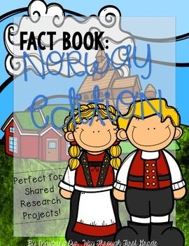 Learn all about the country of Norway while participating in a shared research project with your kids!! Work together as a whole class, or let your kids work in small groups during literacy stations.Kids can write down facts about Norway as they research the country together through websites or books. $1.50