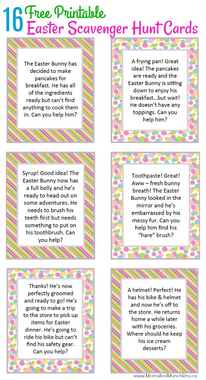 easter scavenger hunt ideas | motivational activities | pinterest