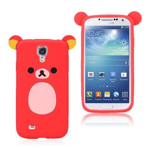 Cute Bear (Rød) Samsung Galaxy S4 Deksel