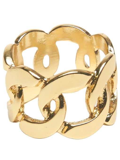 Chain-Link Ring | ARDEN B #accessories #jewelry #gold #chain