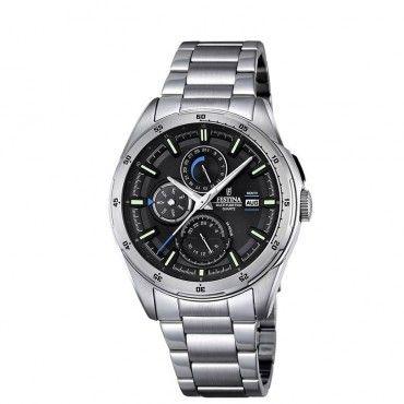 F16876/4 Ανδρικό σπορ quartz ρολόι FESTINA με ημερομηνια, ημέρα και μήνα, με γκρι καντράν & μπρασελε | Ανδρικά ρολόγια FESTINA ΤΣΑΛΔΑΡΗΣ στο Χαλάνδρι #Festina #ημερομηνια #μαυρο #μπρασελε #ρολοι