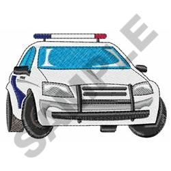 Occupational Embroidery Design: POLICE CAR from Great Notions