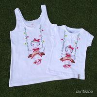 Conjunto camisetas Ro-ro columpio madre/hija