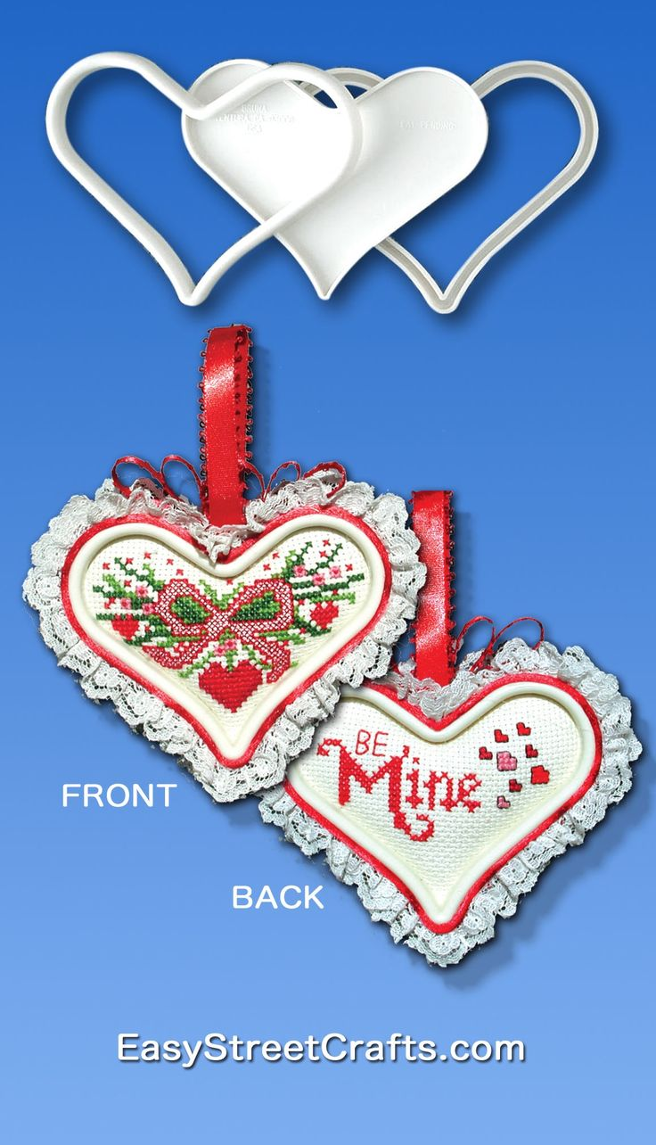 create your valentines with sweet suspensions heart frames this design for a two sided heart is stitched on aida cloth cross stitch chart is in all