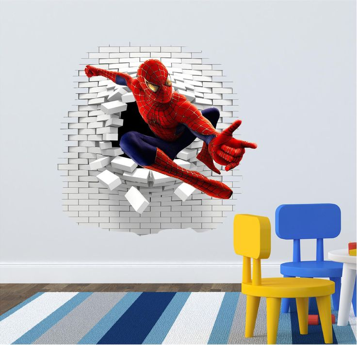 1000 ideas about spiderman wall decals on pinterest for Spiderman kids room