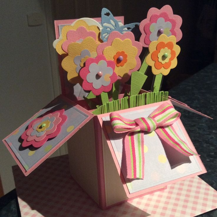 Card in a box - Spring/Easter theme