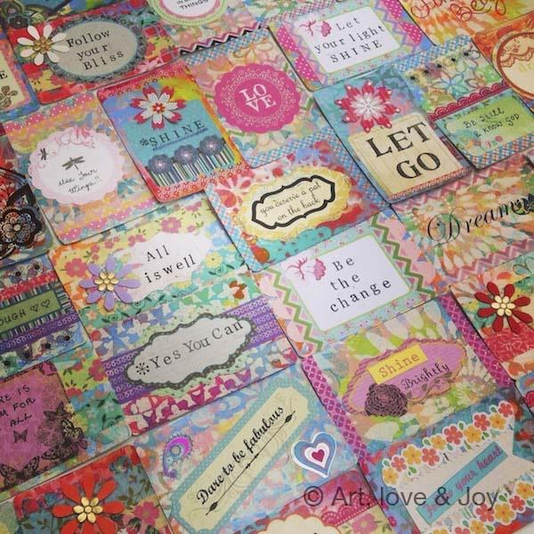 Art, Love & Joy: Inspirational card deck 2013