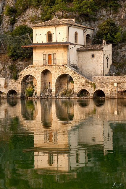 Chiesa della Madonna del Lago. Scanno, Abruzzo, Italy, province of L'Aquila.  This is the church where my Zia Luciana and Zio Lili were married.