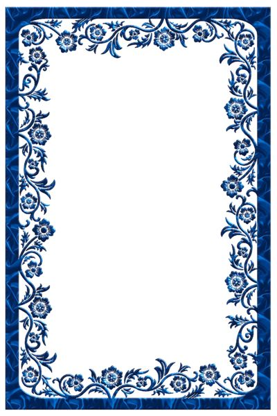 blue frame png | Large Blue Transparent Frame