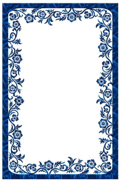 blue frame png | Large Blue Transparent Frame