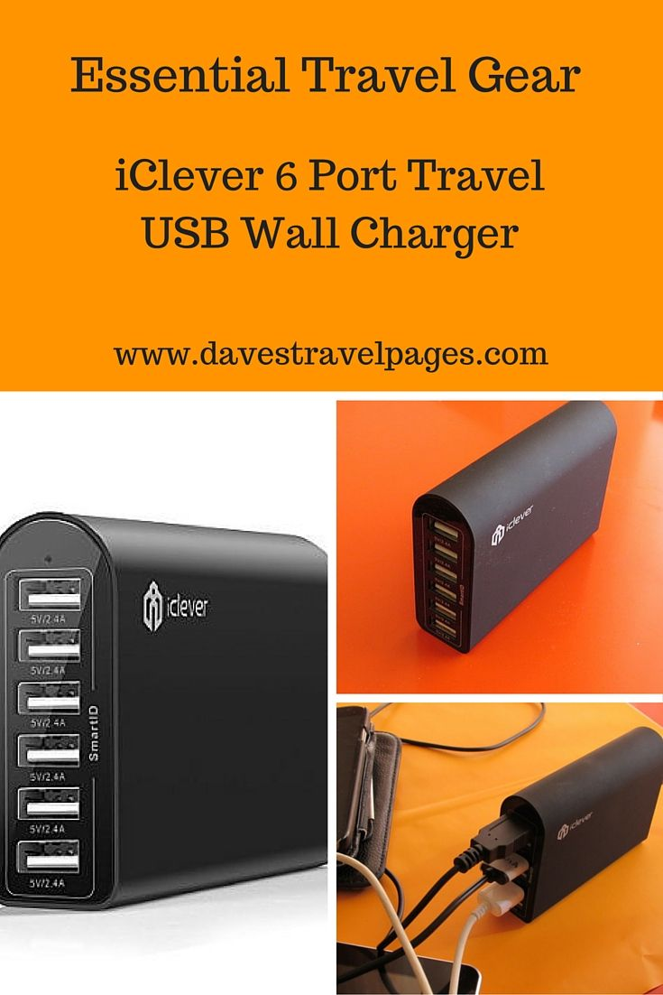 USB Wall Charger Review : This 6 Port Travel USB Wall Charger is an ideal solution for digital nomads working as they travel. Enabling up to 6 devices to be charged via USB leads at once, it is an essential travel accessory you shouldn't leave home without. Read the article for a full review.