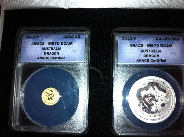 My Gold and Silver Dragon Coin set :)