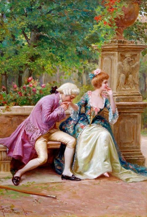 An Amorous Advance, Carlo Ferranti,  ITALIAN 19th CENTURY