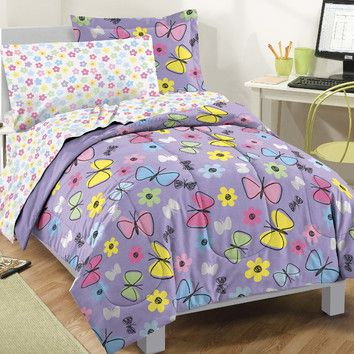 Dream Factory Sweet Butterfly 5 Piece Bed in a Bag Set