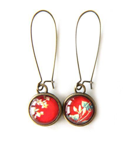 Cloud Nine Creative - Red Floral Earrings