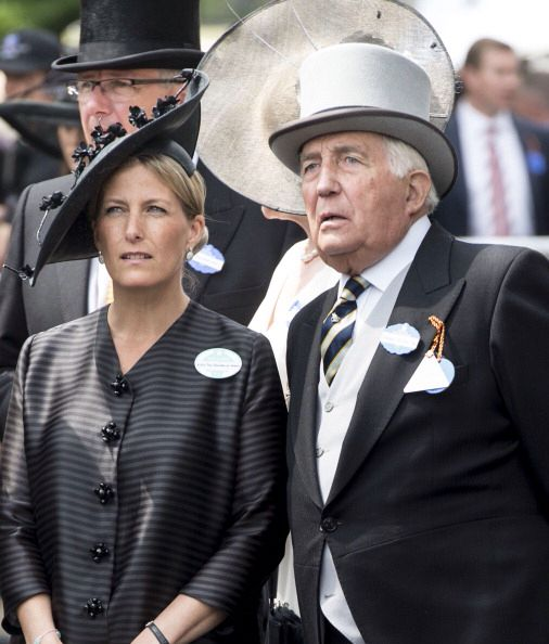 Sophie, Countess of Wessex with her father, Mr. Christopher Rhys-Jones, on Day 4 of Royal Ascot, June 21, 2012.