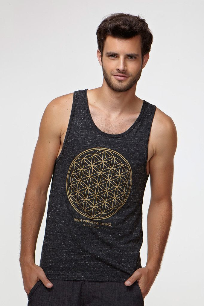 Mandala Triblend Tank in Black by SPIRITUAL GANGSTER.
