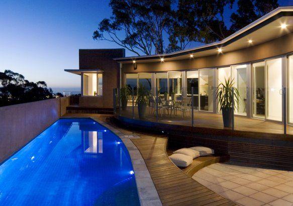 Exotic pool, Kirk House, Australia, Max Pritchard Architect