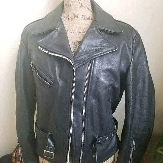 Women Real Leather Jacket Lambskin Vintage Black Speed Racing Biker Style 2735