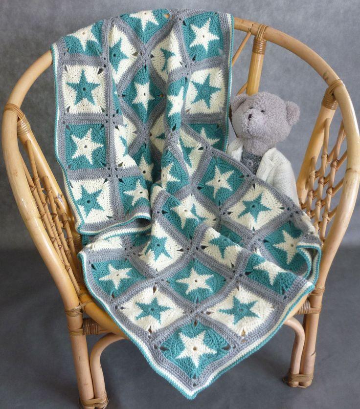 Hand made crochet baby blanket; blanket for the stroller; baby shower blanket; grey blanket; afghan blanket; knit baby blanket; art blanket by tulilala on Etsy