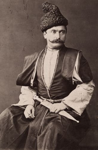 Armenian man in traditional clothes - Rataani traders might dress like this.