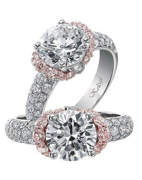 Jack Kelege engagement ring in rose and white gold with round stone I Style: KGR 1016-2 I https://www.theknot.com/fashion/kgr-1016-2-jack-kelege-engagement-ring?utm_source=pinterest.com&utm_medium=social&utm_content=june2016&utm_campaign=beauty-fashion&utm_simplereach=?sr_share=pinterest