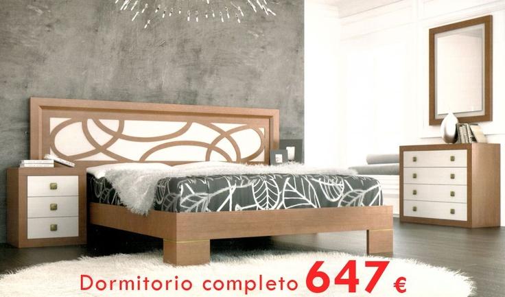 Estupenda oferta de dormitorio de matrimonio moderno compuesto por cama 2 mesitas c moda y - Oferta de dormitorios ...