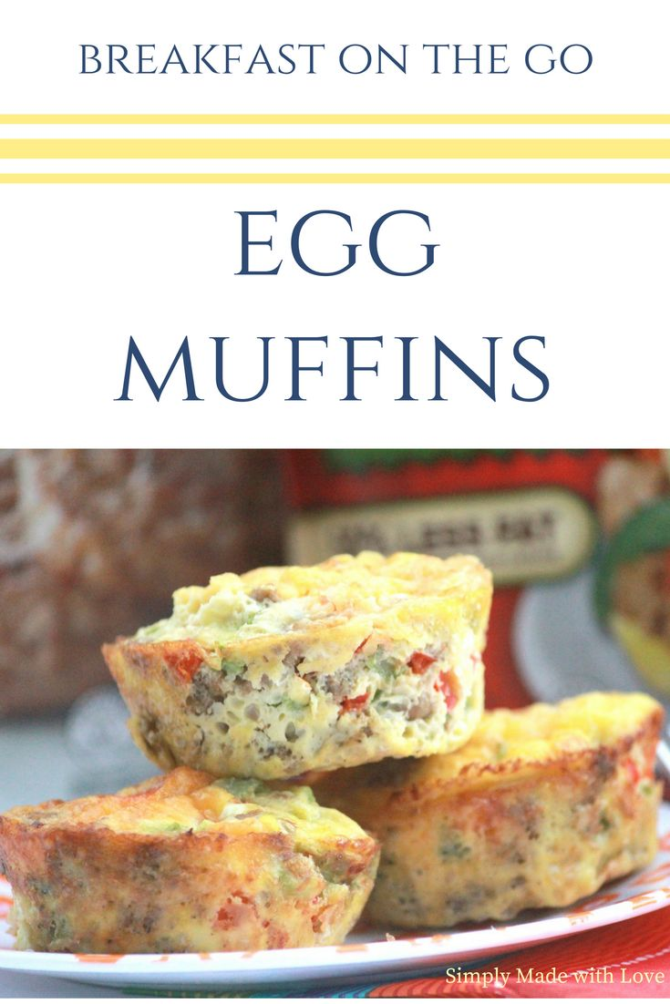 Quick and EASY breakfast muffins. Make on Sunday and enjoy them all week long!