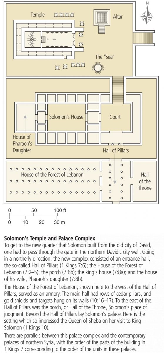Aside from the building work in 1 Kings 6, we are now brought to see the remaining building work of Solomon's houses and the remaining additions to the Temple in chapter 7, already started in the p...