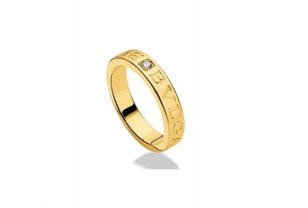 Anello Bulgari Bulgari in oro giallo - Modello in oro 18 carati con diamante tra gli anelli Bulgari più belli