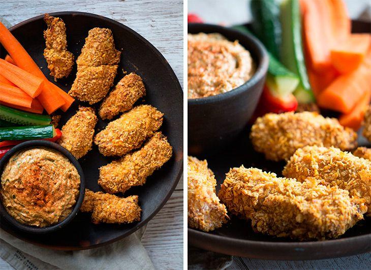 Kylling med cornflakes  ➙ Opskrift fra Valdemarsro.dk