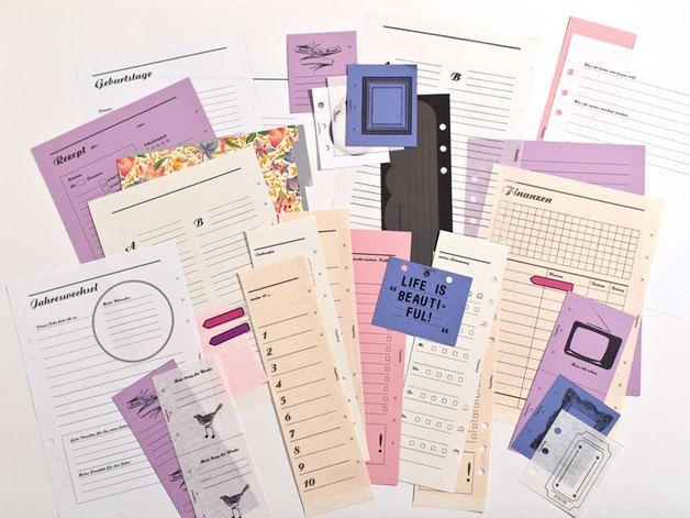 DIY - A5 Filofax Kalender Specials - PDF Download