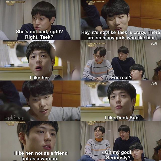 The moment stupid face pretended this was the reason he never did anything. TAEK 짱~~~ reply 1988