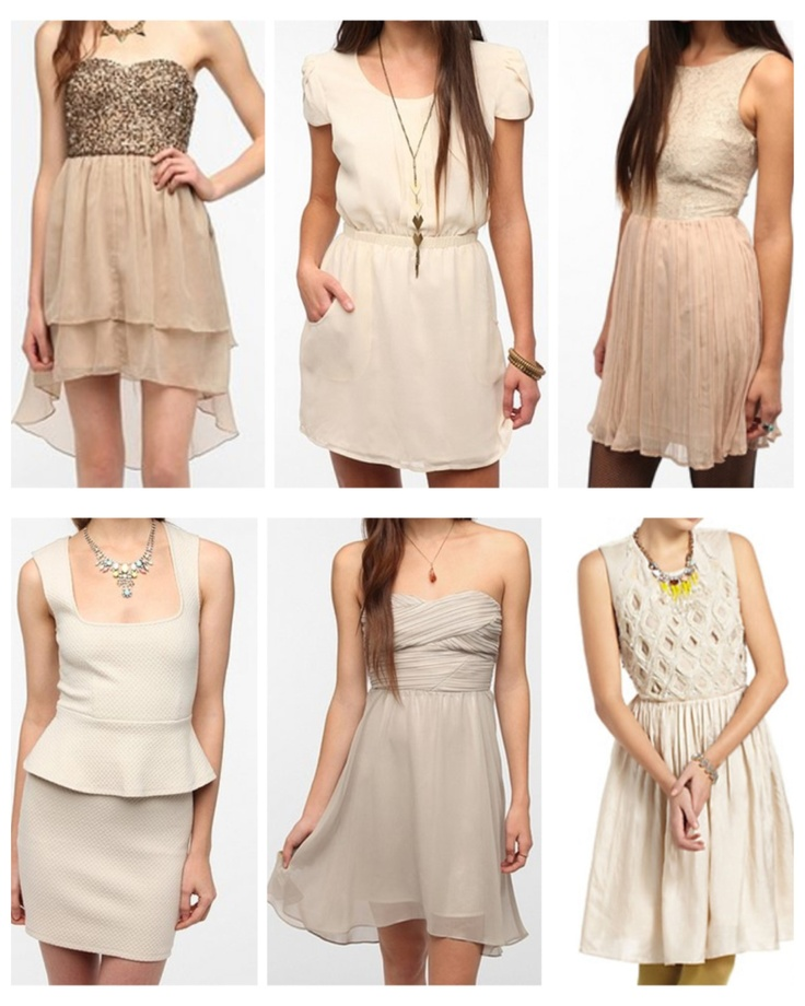 Mismatched neutral bridesmaids dresses | Dream Wedding ...