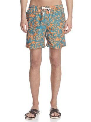 60% OFF TRUNKS Men's San-O Print Swim Trunks (Orange Palms)