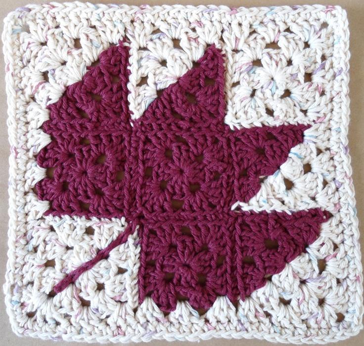 #224 Autumn Leaf Crochet Dishcloth-Maggie Weldon-Free Pattern