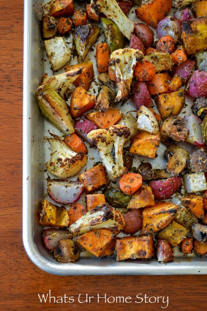 whole30 compliant roasted vegetables and egg breakfast hash