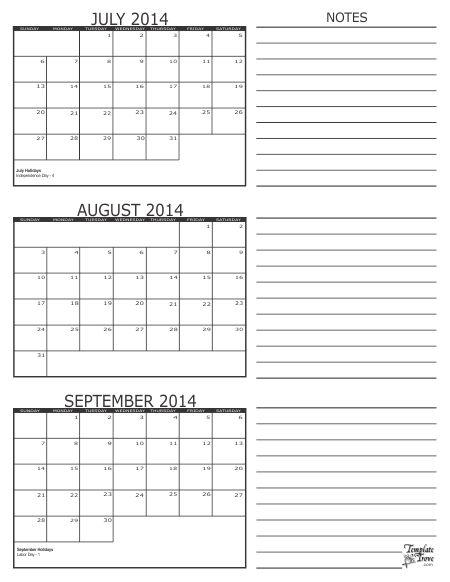 Best 25+ September 2014 calendar ideas on Pinterest Calendar for - sample quarterly calendar templates