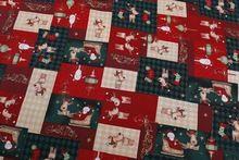 Новое поступление! Красивая площадь дизайн оленей и санта-клауса рождественские X'mas хлопчатобумажная ткань(China (Mainland))