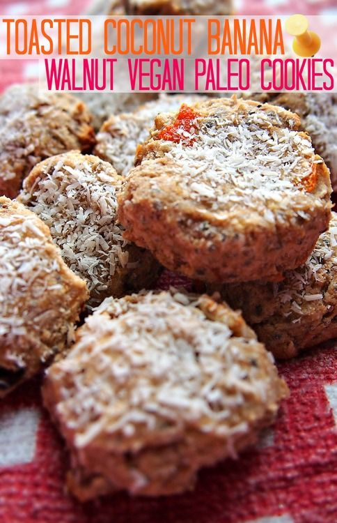 52 Calorie Toasted Coconut Banana Walnut Paleo Cookies! (12 Days of Recipes) – Simply Taralynn