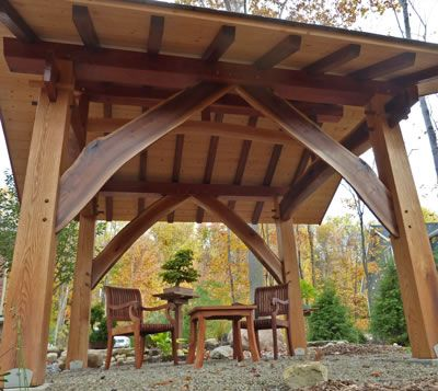 """""""Into the Woods"""" Timber Frame Gazebo"""